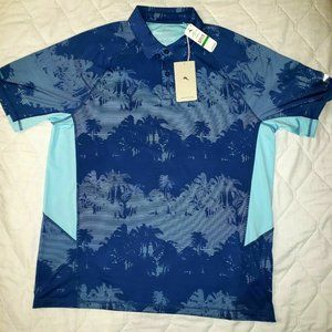 Tommy Bahama Island Active Blue Polyester Polo